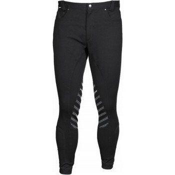 Heren rijbroek Dublin met jeans zakken, studs, elastische enkel sluiting, siliconen kniestukken. Verkrijgbaar in de maten: 46, 48, 50, 52, 54, 56 58.