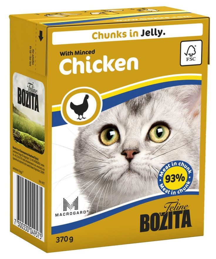 Bozita robur chunks in jelly with rabbit wet cat food