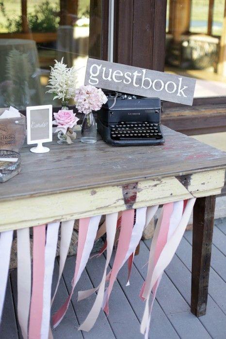 Vintage typewriter - guestbook...
