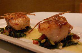 Balsamic Glazed Monkfish Recipe. http://www.bbc.co.uk/food/recipes/monkfishleekandtomat_88557