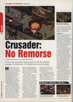 Crusader No Remorse Review - PC Format Page 1