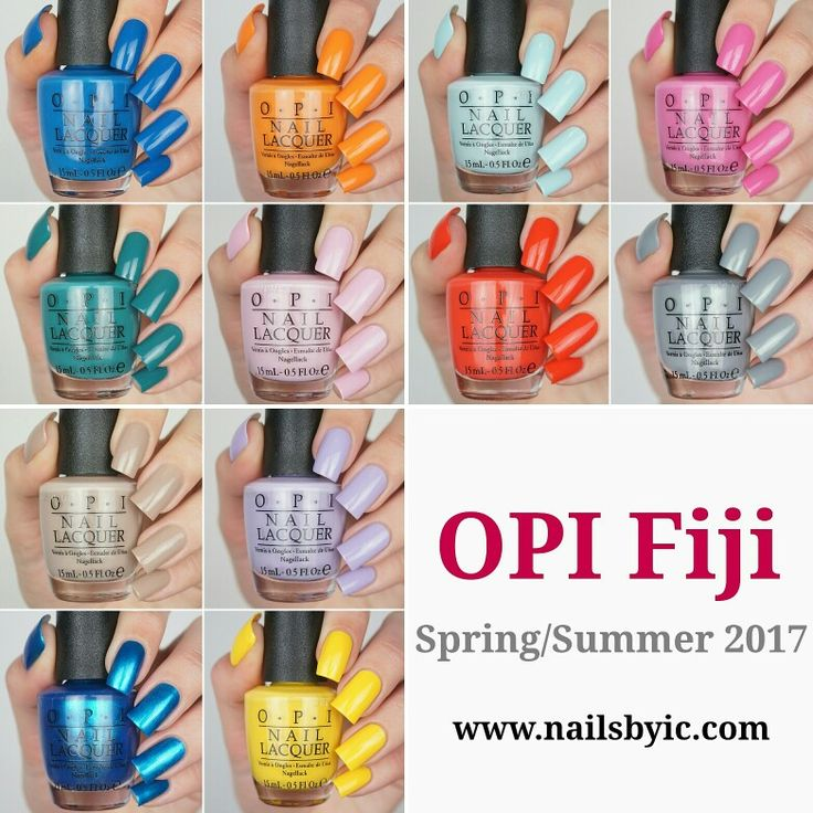 Swatches of the OPI Fiji collection is now up on www.nailsbyic.com