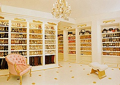 This is exactly what my shoe collection will look like as soon as the kids move out, & my husband tranforms their bedrooms! YAY cant wait!!!!
