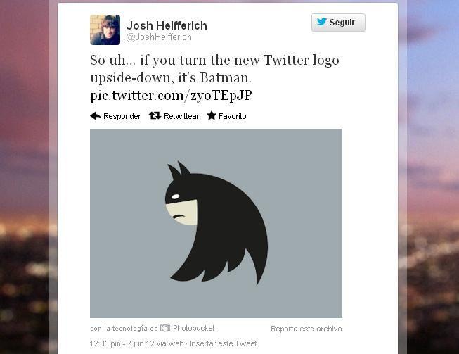 El nuevo logo de Twitter convertido en Batman