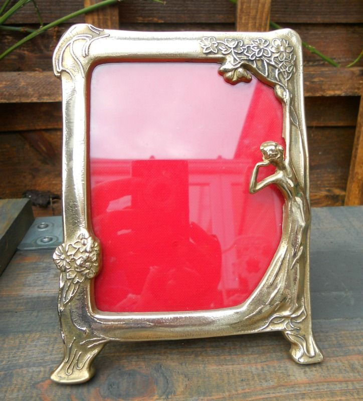 vintage brass art nouveau style photo frame sold on my ebay site lubbydot1
