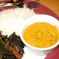 Everyday Red Lentil Dal Recipe -- love this one.  Mild, easy...doubled it and had a good amount for one more meal.  Also added garam masala in moderation, and would surely consider adding one more onion.