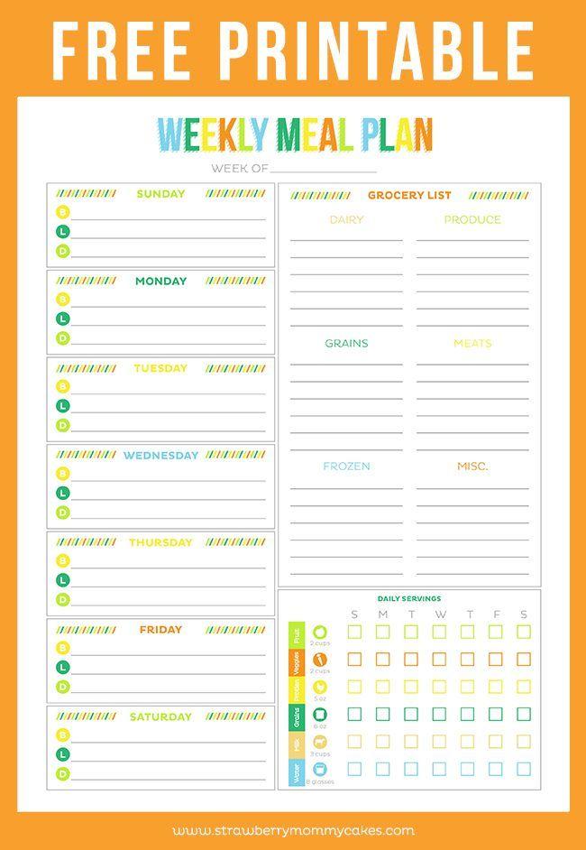 Free Printable Menu Planners Weekly Meal Planner Printable Meal