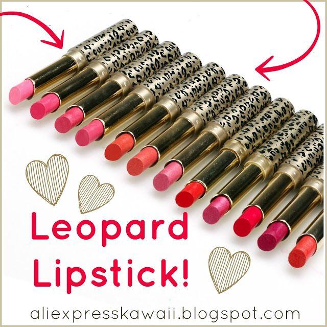 Aliexpress Kawaii Shopping: Leopard Lipstick