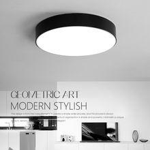 led modern acryl de la aleacin negro blanco redondo led lmpara luz led luces