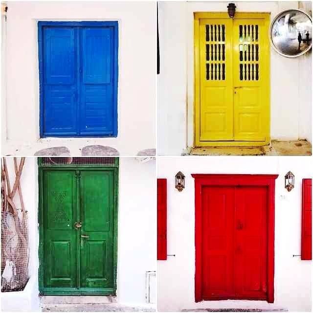 #GMORING #COLORFULL #MYKONOS! Did you #discover those #colourful #doors among the quaint #streets? We #love these #unique details of #mykonos!!!   #photooftheday #colours #happy #love