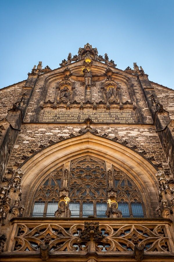 The frontage of the cathedral of St.Peter and Paul in Brno, Czechia #city #brno #czechia #cathedral