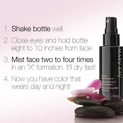Mary Kay Finishing Spray!  ORDER:  http://www.marykay.com/mcavazos85
