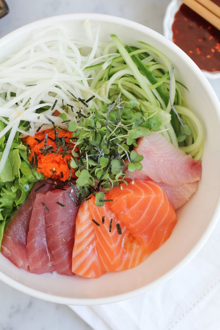 Recipe: Korean Mixed Rice with Sashimi