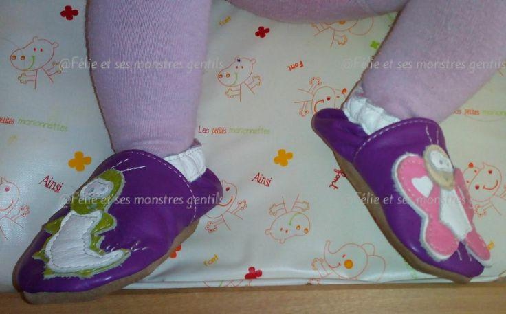 Concours pour gagner une paire chausson en cuirbébé ou enfant de @chouballon