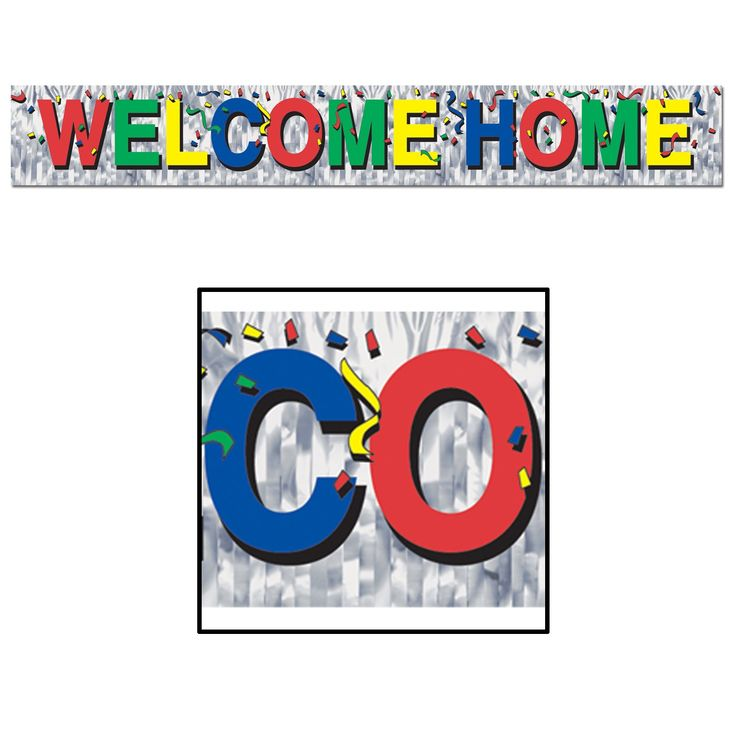 Metallic Welcome Home Fringe Banner Party Decoration (12ct)