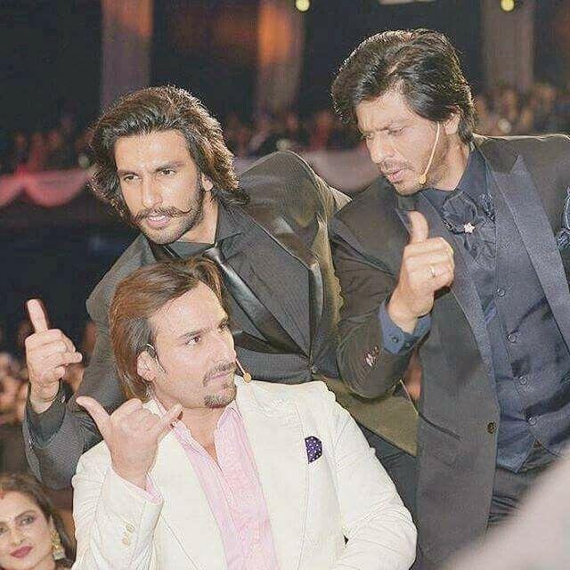 Shahrukh Khan & Ranveer Singh & Saif Ali Khan