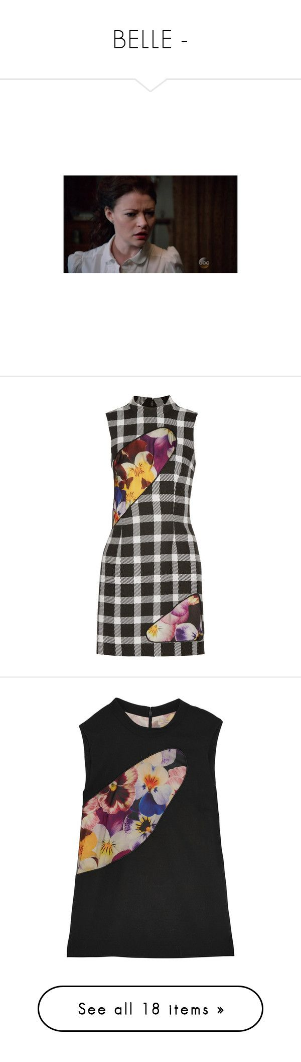 """""""BELLE -"""" by carla-turner-bastet ❤ liked on Polyvore featuring dresses, black, colorful dresses, satin mini dress, mini dress, slimming dresses, christopher kane dress, tops, sheer top and wool tops"""