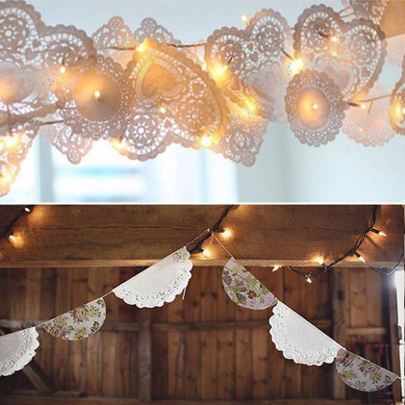 Las blondas de papel son una de las tendencias que más está calando en la decoración de las bodas, y no nos extraña porque combinan muy bien con casi todo. Normalmente se usan las de papel pero tam…