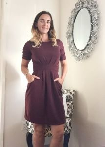 love this stitch fix dress for work, wonder if it would be long enough? Elaine 3/4 Pleat Waist Dress