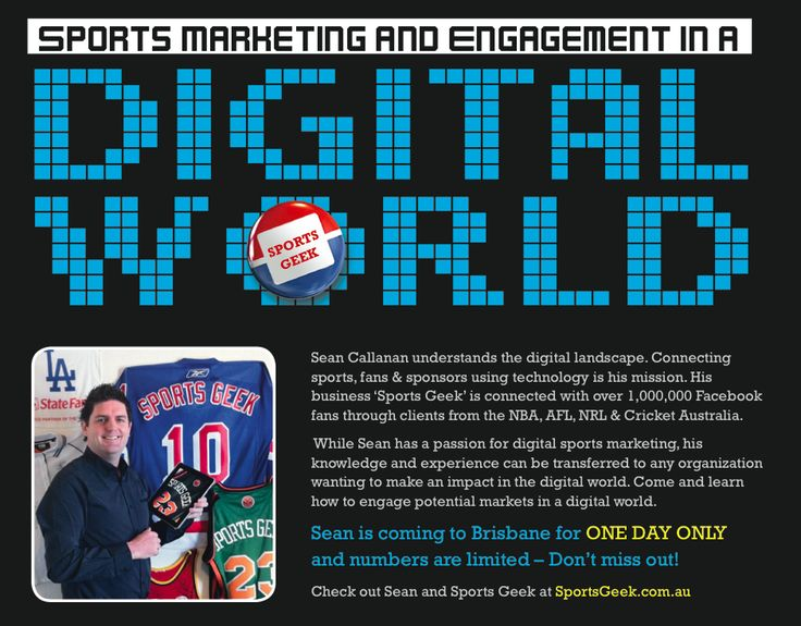 Sports Geek in Brisbane - September 18 - Hope to see you there #smsports #digisport #brisbane