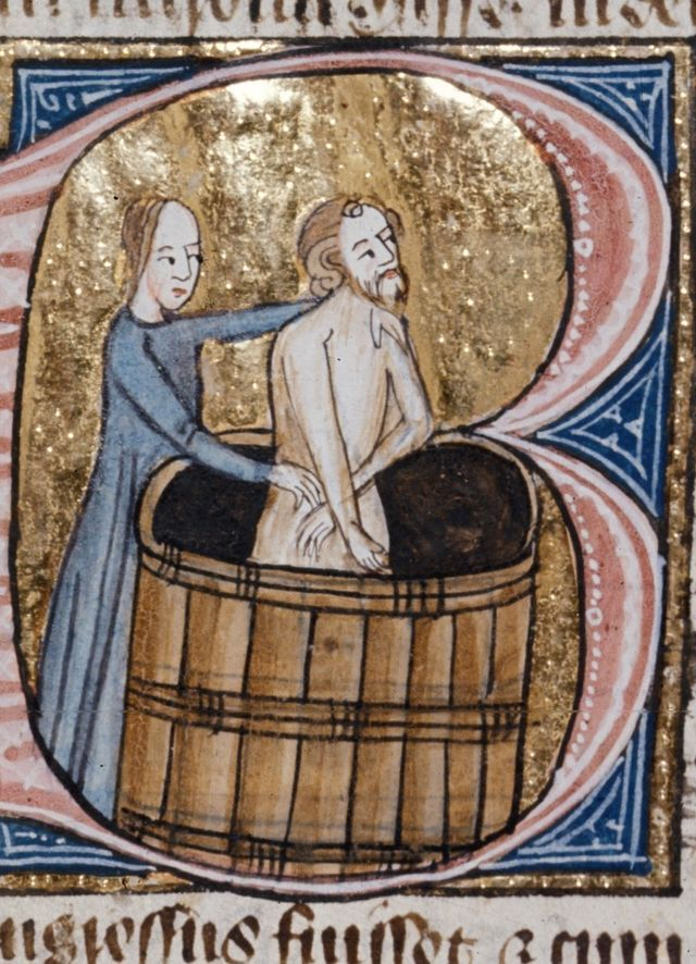 Medieval people were always dirty and had terrible personal hygiene. People in the Middle Ages did take baths, and would try to keep clean. Combs and other personal grooming devices were also widely used.