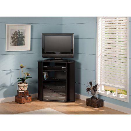 Bush Furniture Visions Tall Corner TV Stand, Black