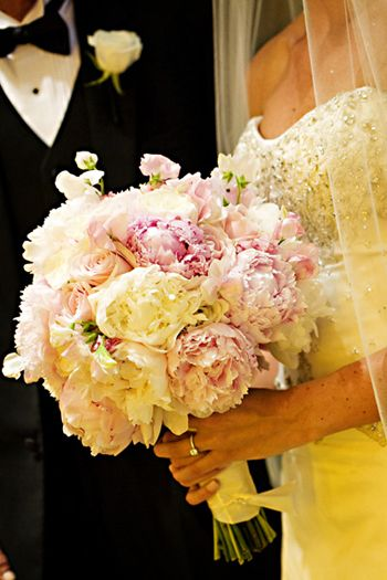Peony and roses bouquet