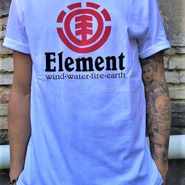 t-shirt logo classico bianco 1