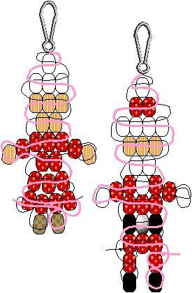 Santa & Mrs. Claus Pony Bead Patterns