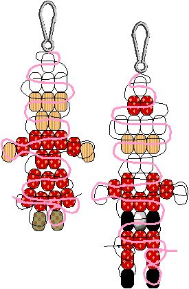 Santa & Mrs. Claus Pony Bead Patterns