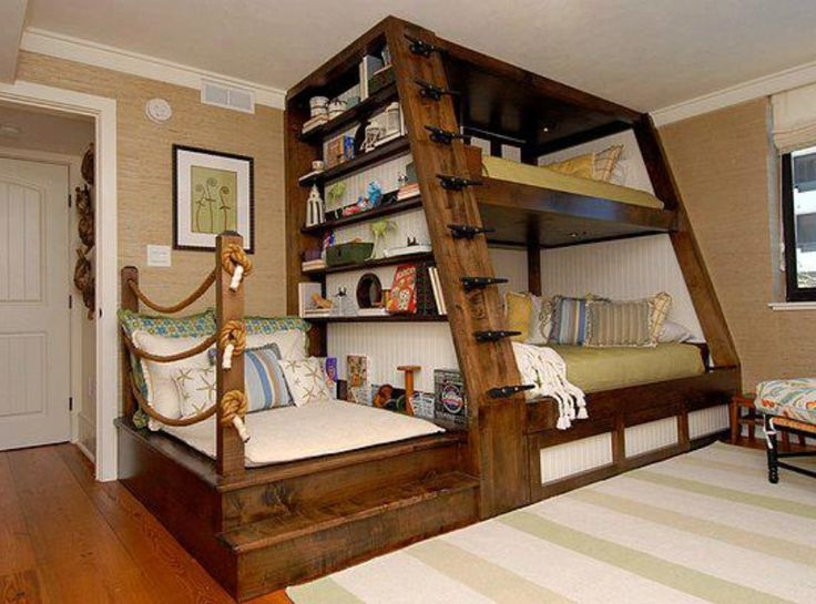Nautical bunk ins with rope boat cleat steps  1000 images about Boat Cleats  in Home. Boat Bedrooms