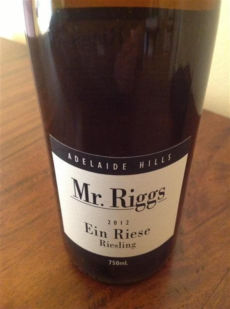 Summer - Mr. Riggs Riesling Ein Riese
