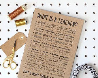 Lehrer-Gedicht-Postkarte In massiver Buche Frame von bespokeverse