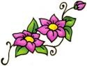 Two Pink Flowers Tattoo Tattoos Design