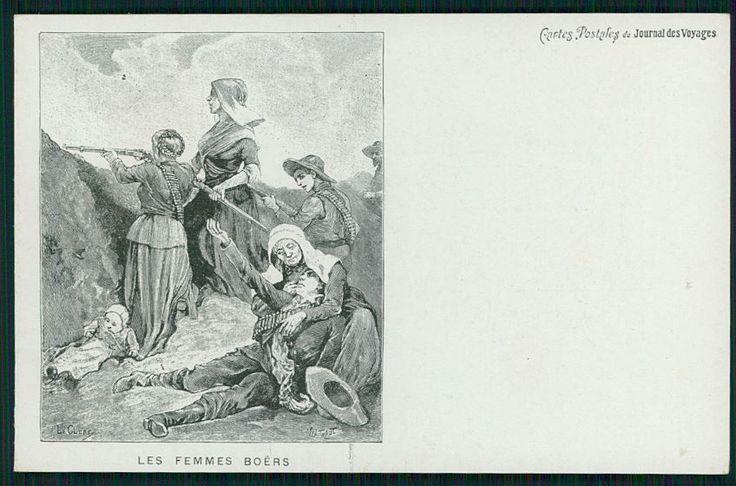 Boer War women in arms South Africa Ethnic original c1900s postcard | eBay