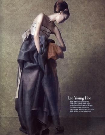 Modern hanbok -- really like the sheer bottom layers!