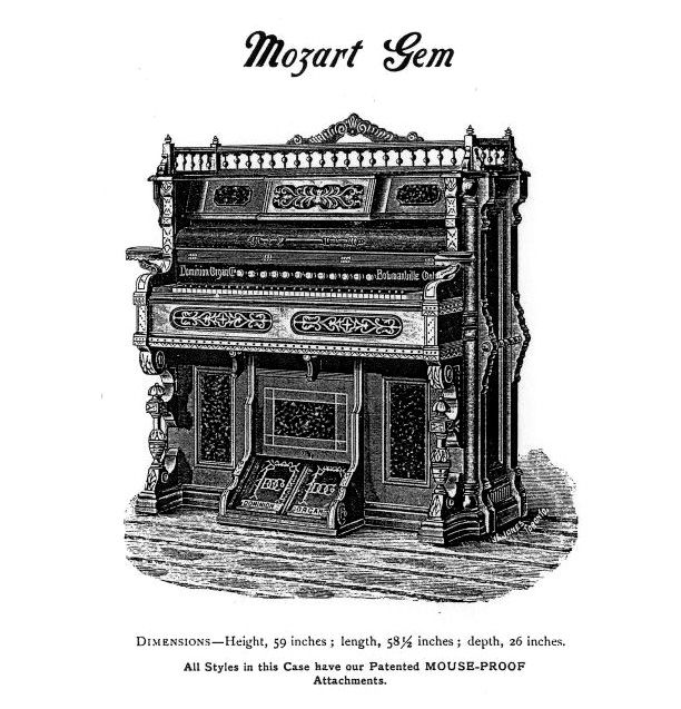 Dominion 1891 - 1M Reed Organ. Mozart Gem