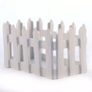 Plastic White Fence Basket