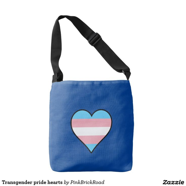 Transgender pride hearts tote bag