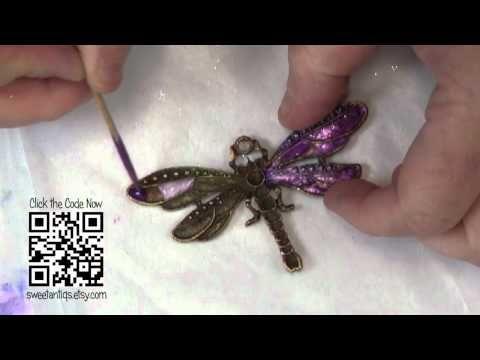 Come creare finti gioielli di smalto - con smalto e filo! Dolci Antiq di di Linda Peterson -