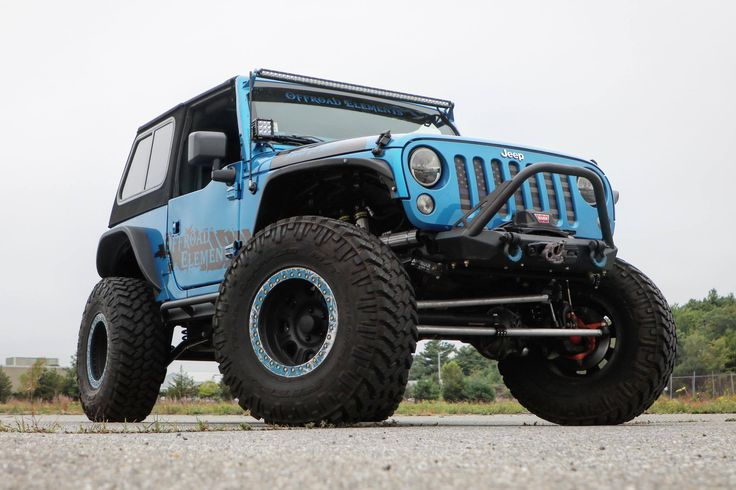 """Frankie Van Halen 2015 Jeep Wrangler JK Hydro Blue Pearlcoat 