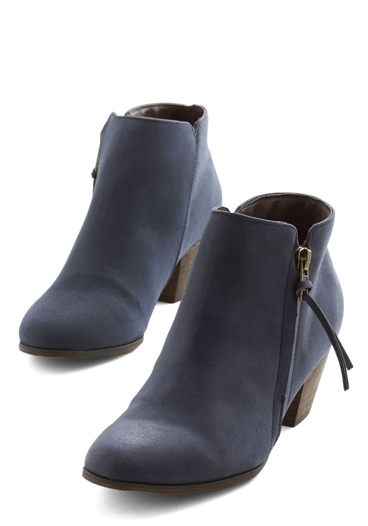 Here, There, and Everywhere Bootie in Navy | Mod Retro Vintage Boots | ModCloth.com