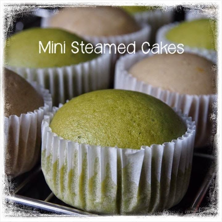 Singapore Home Cooks: Mini steamed Green Tea cakes by Pris Wang