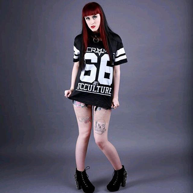 """Occulture 666"" Mesh Tee Available at www.crmcclothing.co 