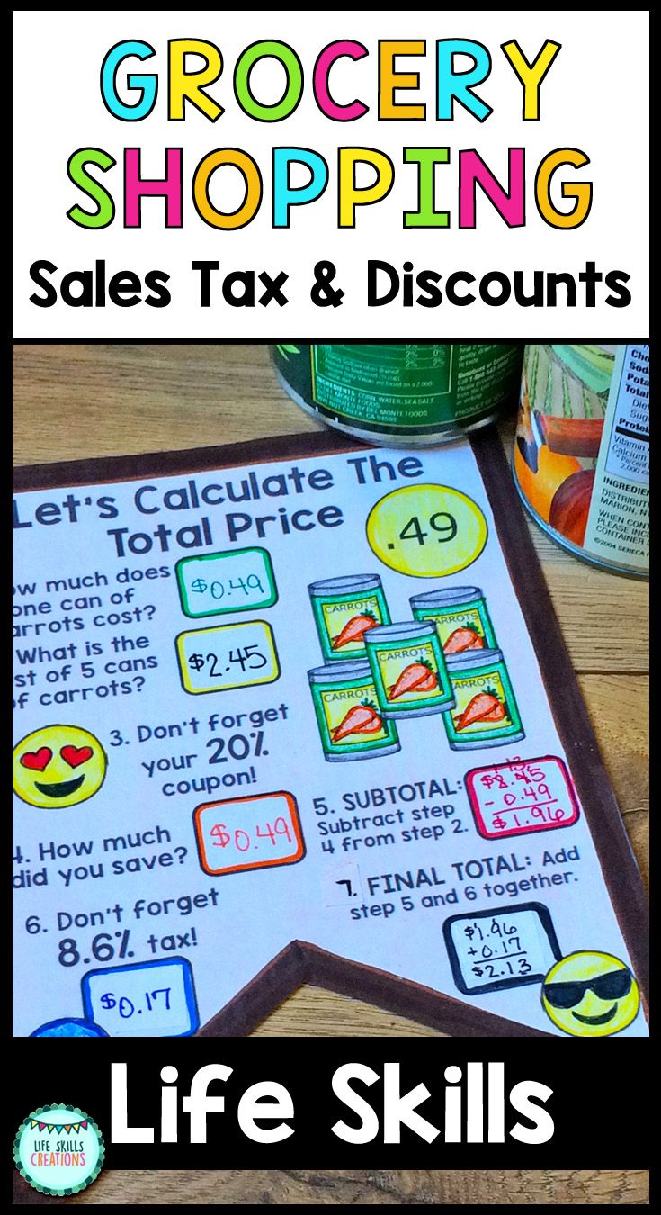 Want to teach your students the process of calculating coupon savings and adding sales tax to purchases? This engaging craftivity guides students step by step in this process and shows them the order in which coupons and sales tax are added onto an order. $ Gr 2-12 | Life Skills | Special Education