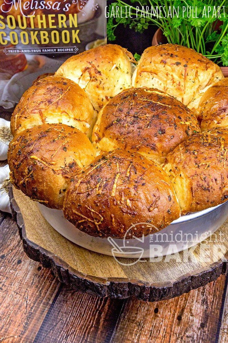 """Classic pull-apart bread oozing with butter, garlic, cheese and herbs. The perfect dinner roll! I'm a big-time fan of southern food. Now that raises many eyebrows because I'm a consummate """"Yankee,"""" and the only claim I can make to anything southern is coming from the southern part of Brooklyn, New York. However, a good friend...Read More »"""