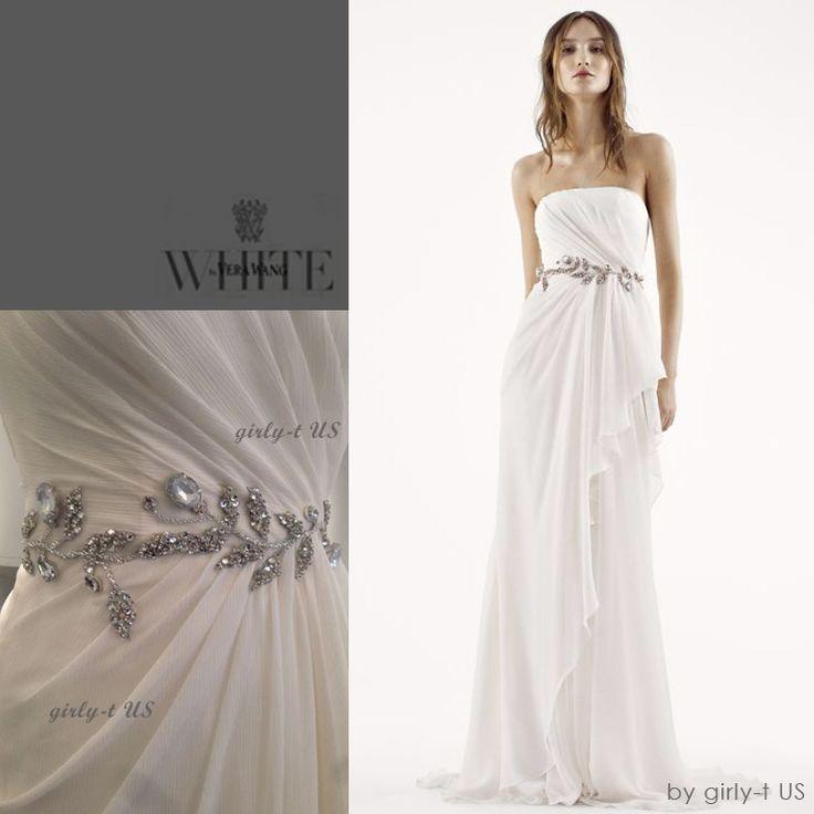 ☆White by Vera Wang☆ ビジュー シフォン カラム ドレス/全2色(18212966):BUYMA (バイマ)