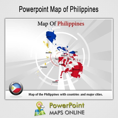 "The Philippine flag is the only flag in the whole world that is displayed differently in times of peace and war. In peace time, the blue side is put on top; in war time, the red.. The country was named by Spanish explorer Ruy Lopez de Villalobos. It was named ""Philippines"" in honor of King Philip II of Spain.  http://www.powerpointmapsonline.com/powerpointmaps.aspx/Map-of-Philippines-61"