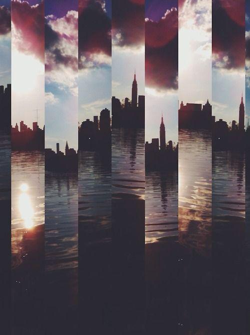 An elegantly spliced New York City skyline... - WGSN