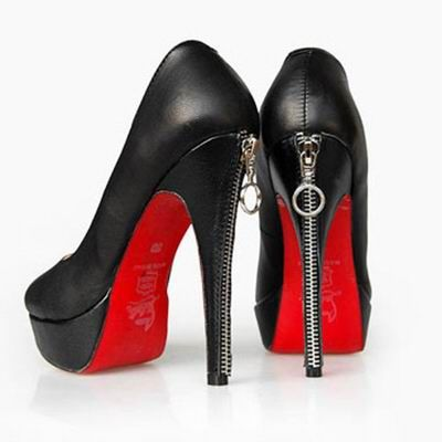 Christian Louboutin Bianca Back-zip Leather Pumps Black | Shoes ...
